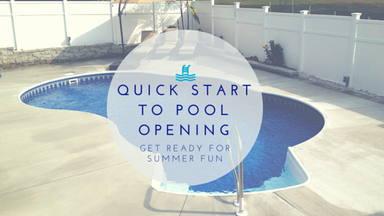 Quick to steps to open your pool